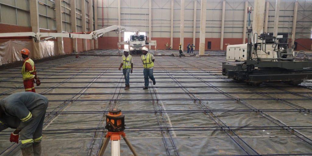 Komatsu Concrete Floor